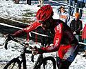 (Click for larger image) Runner up Tim Johnson (Cyclocrossworld.com -Louis Garneau)  chose to run this section each lap