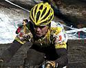 (Click for larger image) A mud covered Chris Horner (Saunier-Duval/Prodir)  rode to an impressive 12th place