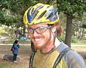(Click for larger image) MTB race newbie Greg McNevin looked pretty chipper after finishing his first ever race. Greg works for Cyclingnews' sister publication <i>Image and Data Manager</i> and seems keen to do it again!