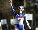 (Click for larger image) Daphny van den Brand (ZZPR.nl) wins the women's race comfortably