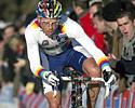 (Click for larger image) Sven Nys (Rabobank) keeps the bike upright through the sand