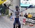 (Click for larger image) Now there's a familiar sight! Sven Nys (Rabobank) wins in Milan