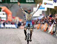 (Click for larger image) Bart Wellens (Fidea) was very happy to take his first world cup win this season