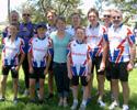 (Click for larger image) Lorian Graham  with members of the Muswellbrook Cycling Club.