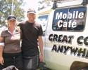 (Click for larger image) A mobile cafe  - a must have for cyclists!