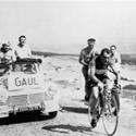 (Click for larger image) Charly's day  - Gaul en route to winning  the 18th stage of the 1958 Tour de France, an uphill individual time trial from Bedouin to the top of Mont Ventoux.
