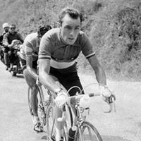 (Click for larger image) The 'Angel of the Mountains'  - Charly Gaul leads Spanish rider Federico Bahamontes during the 17th stage of the 1959 Tour de France between Saint-Etienne and Grenoble, which Gaul won.