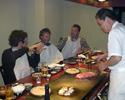 (Click for larger image) Talking 'cross over dinner,  Teppanaki style.