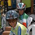 (Click for larger image) Stefano Garzelli (F) and Dario Cioni  are two of Liquigas-Bianchi's star riders when it comes to stage races, the other being Danilo Di Luca.