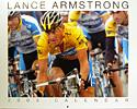 (Click for larger image) Lance Armstrong 2006 calendar  - celebrate Armstrong's seven Tour wins with this yellow jerseyed images.