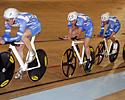 (Click for larger image) TIAA-CREFF in the team pursuit qualifier