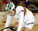 (Click for larger image) Clara Sanchez (France)  in the qualifying keirin