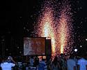 (Click for larger image) Fireworks at the closing ceremony of the Tour of Siam 2006.