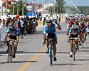 (Click for larger image) Jamsran Ulzii-Orshikh from the Marco Polo Cycling Team wins stage 5 in the Tour of Siam 2006.