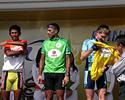 (Click for larger image) Thomas Rabou (Marco Polo Cycling Team) takes over the yellow jersey in the Tour of Siam.