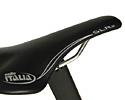 (Click for larger image) Selle Italia SLR-xp  - the SLR saddles are a love 'em or hate 'em seat. If they work for you, they have the big advantage of being some of the lightest around.