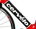 (Click for larger image) The down tube is huge, but Cervelo's lay-up and shaping techniques keep the wall thickness and weight down.