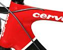 (Click for larger image) The head tube contributes to the stiffness of the Soloist carbon by being, well, huge. It's another place where Cervelo has maximised the possible size of an area of the frame to boost stiffness.