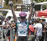 (Click for larger image) Kate Bates (Pitcher Partners) easily takes out stage on of the Women's Series  in Williamstown