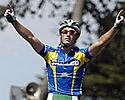 (Click for larger image) Mark Renshaw (Skilled) takes out stage two in Portarlington with runner-up Simon Gerrans (Portfolio Partners) close by