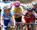 (Click for larger image) Bunch action from the women's race