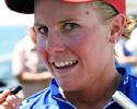 (Click for larger image) Belinda Goss (Volvo) tells the tale of her first Bay Series win