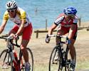 (Click for larger image) Simon Gerrans (Portfolio Partners) checks out Mark Renshaw before they broke away with Darren Lapthorne