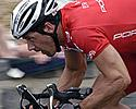 (Click for larger image) Robert 'Bear' McLachlan (Drapac Porsche)  powers out of a corner in Geelong