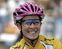 (Click for larger image) And why wouldn't you have a golden smile in the Series leader's yellow jersey�Kate Bates (Pitcher Partners)?