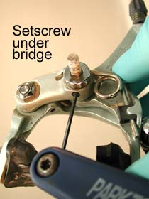 Shimano setscrew below bridge